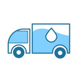 water delivery truck clean purified mineral drink vector image vector image