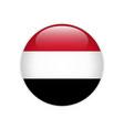 yemen flag on button vector image vector image