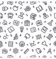 Education Seamless Pattern vector image