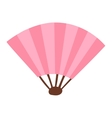 Chinese fan traditional asian isolated vector image