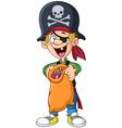 halloween pirate kid vector image