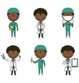 African-American doctor and health worker vector image vector image