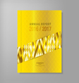 annual report template design vector image