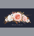 autumn winter floral wreath bouquet design vector image vector image