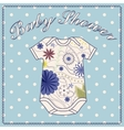 Baby shower wath body clothing vector image