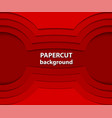 background with red paper cut shapes 3d abstract vector image vector image