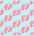 bafootprint pattern vector image vector image