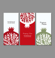 banners design pomegranate background vector image vector image