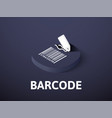 barcode isometric icon isolated on color vector image