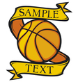 basketball club emblem vector image vector image