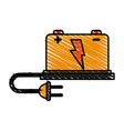 battery cartoon doodle vector image vector image