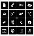 black seo icon set vector image vector image