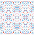 boho pattern blue flower background vector image vector image