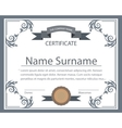 Certificate template tape ornament printing vector image