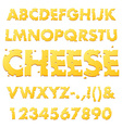 Cheese Alphabet Letters vector image