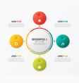 circle chart template with 4 options vector image vector image