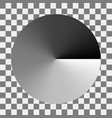 circular monochrome gradation gray color gradient vector image
