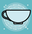 coffee mug design vector image