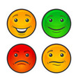 color smiley face icons set vector image vector image