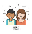 colorful poster of people team with half body vector image vector image