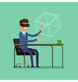 Concept of virtual reality vector image