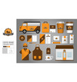 corporate identity template set 19 logo concept vector image vector image