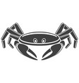 crab icon on white background vector image vector image