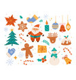 cute winter holiday ornaments christmas scrapbook vector image