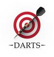 darts game emblem vector image