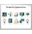 design development icons flat pack vector image