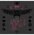 Design elements for the cafe bar for bikers vector image