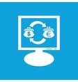 Dollar-euro exchange monitor icon