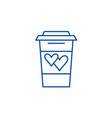 drink of lovers line icon concept drink of lovers vector image