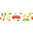 easter cover and banner template with decorative vector image vector image