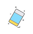 eraser school stationary icon design vector image
