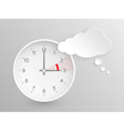 European Summer Time ends clock with cloud vector image vector image