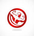 fitness body building man logo vector image vector image