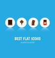 flat icon bitter set of wrapper dessert vector image vector image