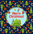 flat merry christmas card vector image vector image