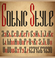gothic motif geometric font vector image
