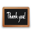 hand drawn thank you on a blackboard vector image vector image