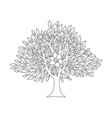 hand tree concept in outline style for social help vector image