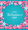 happy valentines day beautiful and cute card with vector image vector image