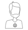 hippie man avatar character vector image