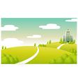 Hospital building green landscape vector image vector image