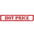 Hot price stamp vector image vector image