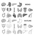 human organs monochrom icons in set collection for vector image vector image