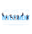 investments business concept in a flat style vector image vector image