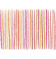 irregular orange pink lines pattern over white vector image vector image
