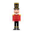 isolated cute nutcracker soldier vector image vector image